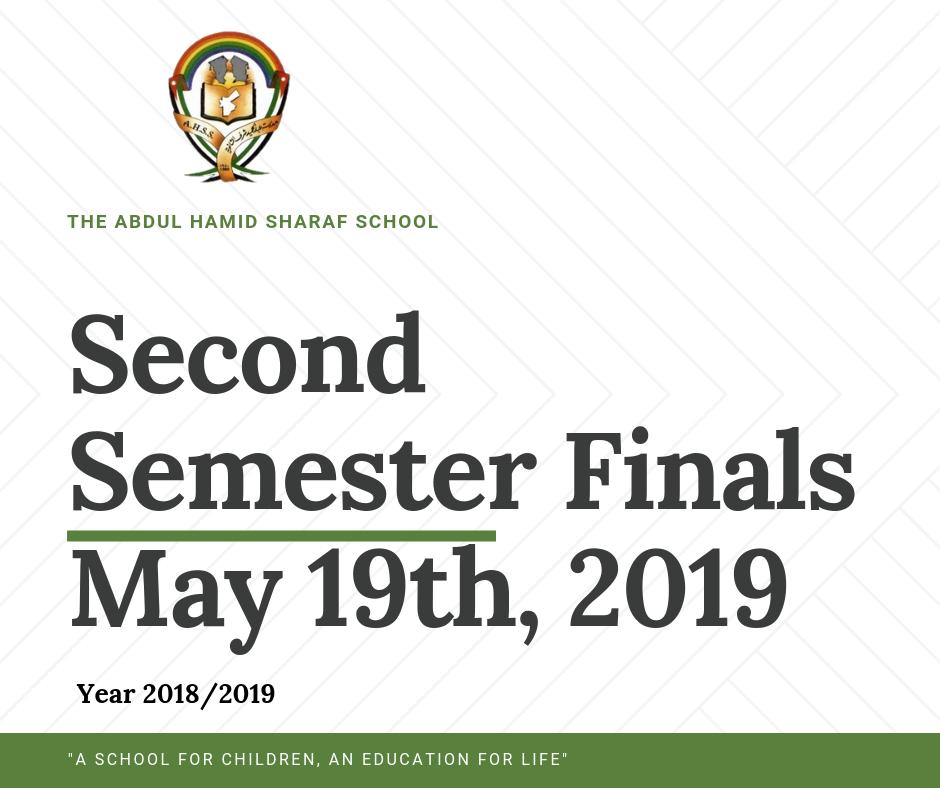 Second Semester Finals Start